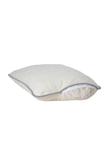 Hibboux 50x70 Soft Flannel Yıkanabilir Kılfılı Pamuk Yastık 900 gr Beyaz